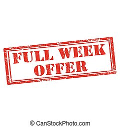 Full Week Offer - Grunge rubber stamp with text Full Week ...