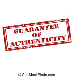 Guarantee Of Authenticity - Grunge rubber stamp with text...