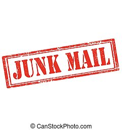 Grunge rubber stamp with text Junk Mail, vector illustration