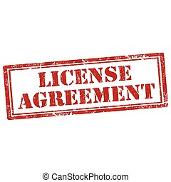 License Agreement - Grunge rubber stamp with text License...