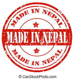 Made in Nepal - Grunge rubber stamp with text Made in Nepal...