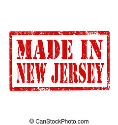 Grunge rubber stamp with text Made In New Jersey, vector illustration