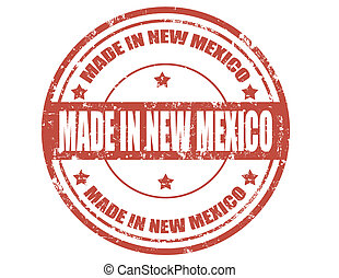Made in New Mexico - Grunge rubber stamp with text Made in ...