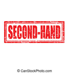 Second-Hand - Grunge rubber stamp with text Second-Hand, ...