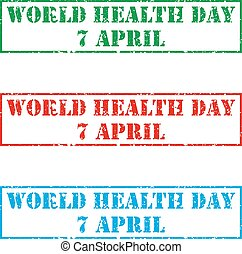 Grunge rubber stamp with text World Health Day, vector illustration