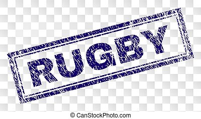 Grunge RUGBY Rectangle Stamp