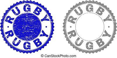 Grunge RUGBY Textured Watermarks