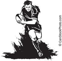 Illustrations et cliparts de rugby 18 185 dessins et illustrations vecteurs eps de rugby - Dessin de joueur de rugby ...