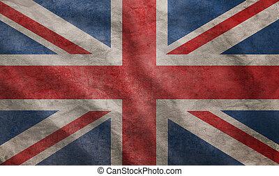 Grunge rugged UK flag