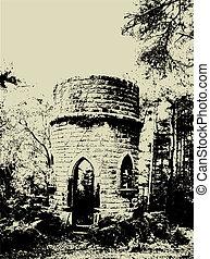 Grunge ruins - Grunge style image of old ruins