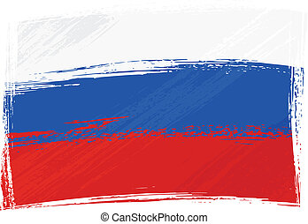 Grunge Russia flag - Russia national flag created in grunge...