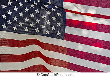 grunge, sabbia, zebrato, bandiera, stelle, americano, chiamato