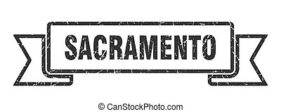 grunge , sacramento , ribbon., oρχήστρα , μαύρο , σήμα