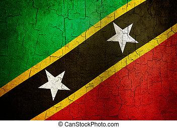 Grunge Saint Kitts and Nevis flag