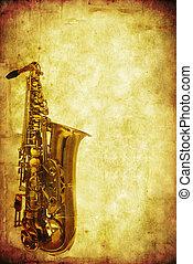 grunge, saksofon
