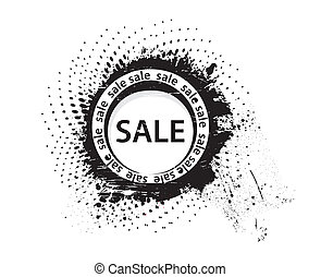 grunge sale rubber stamp