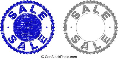 Grunge SALE Textured Stamp Seals