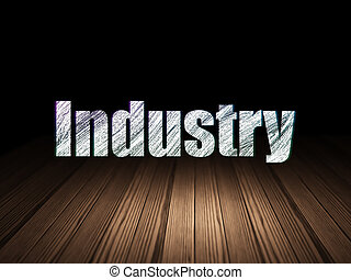 grunge, salle, business, industrie, sombre, concept: