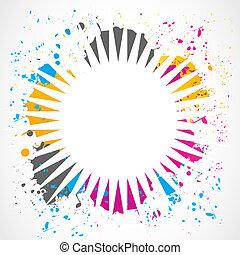 Grunge, salpicadura, diseño, colorido