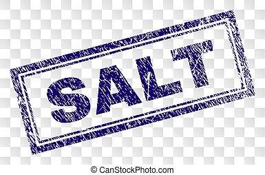 Grunge SALT Rectangle Stamp
