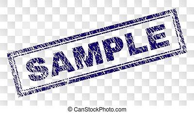 Grunge SAMPLE Rectangle Stamp