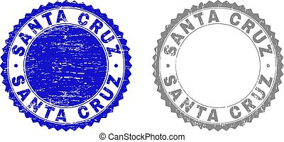 Grunge SANTA CRUZ Textured Stamp Seals