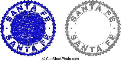 Grunge SANTA FE Textured Stamps