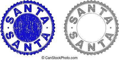 Grunge SANTA Textured Stamp Seals