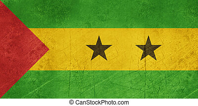 Grunge Sao Tome and Principe Flag - Grunge sovereign state...