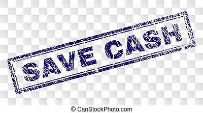 Grunge SAVE CASH Rectangle Stamp