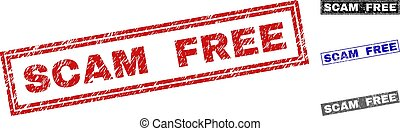 Grunge SCAM FREE Scratched Rectangle Watermarks