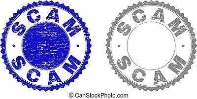 Grunge SCAM Scratched Stamp Seals
