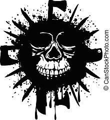 grunge, schedel