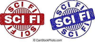 Grunge SCI FI Textured Round Stamp Seals