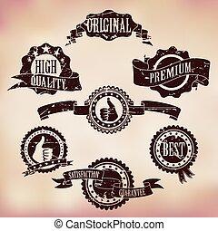 Grunge Scratched Badges