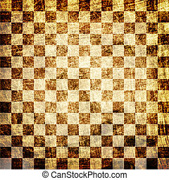 grunge scratched chessboard background