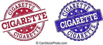 Grunge Scratched CIGARETTE Stamp Seals