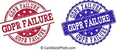 Grunge Scratched GDPR FAILURE Stamp Seals
