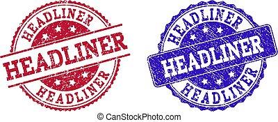 Grunge Scratched HEADLINER Stamp Seals