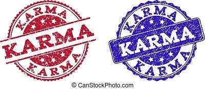 Grunge Scratched KARMA Stamp Seals
