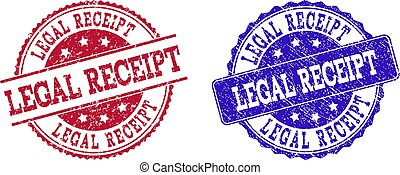 Grunge Scratched LEGAL RECEIPT Stamp Seals