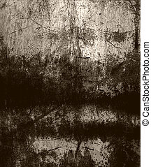 Grunge scratched metal