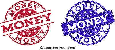 Grunge Scratched MONEY Stamp Seals