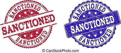 Grunge Scratched SANCTIONED Stamp Seals