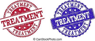 Grunge Scratched TREATMENT Stamp Seals