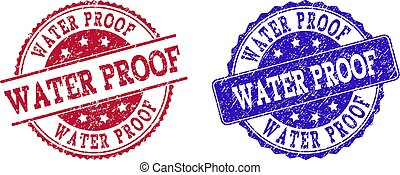 Grunge Scratched WATER PROOF Stamp Seals