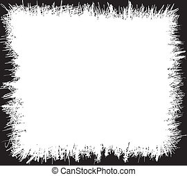 Grunge scribbles frame - Grungy scribbles black and white...