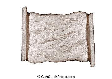 Grunge Scroll Burned Paper Background - Burned Roll of...