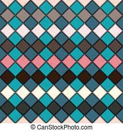 grunge, seamless, rhombus, cores, retro, fundo