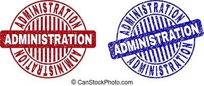 grunge, selo, administração, selos, textured, redondo